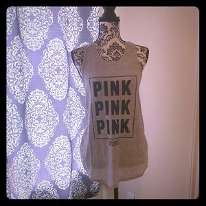 PINK Victoria's Secret Tops - Pink twisted back tank top